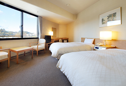 【Townside Rooms】 Relaxing Double Twin